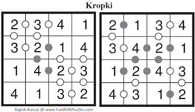 Answer of Kropki (Kids Puzzles Series #1)