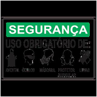 6303dc25f9d42 Ponto Visual Catálogo Virtual  Placa de Sinalização Segurança Uso ...