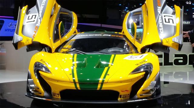 McLaren P1 GTR in yellow
