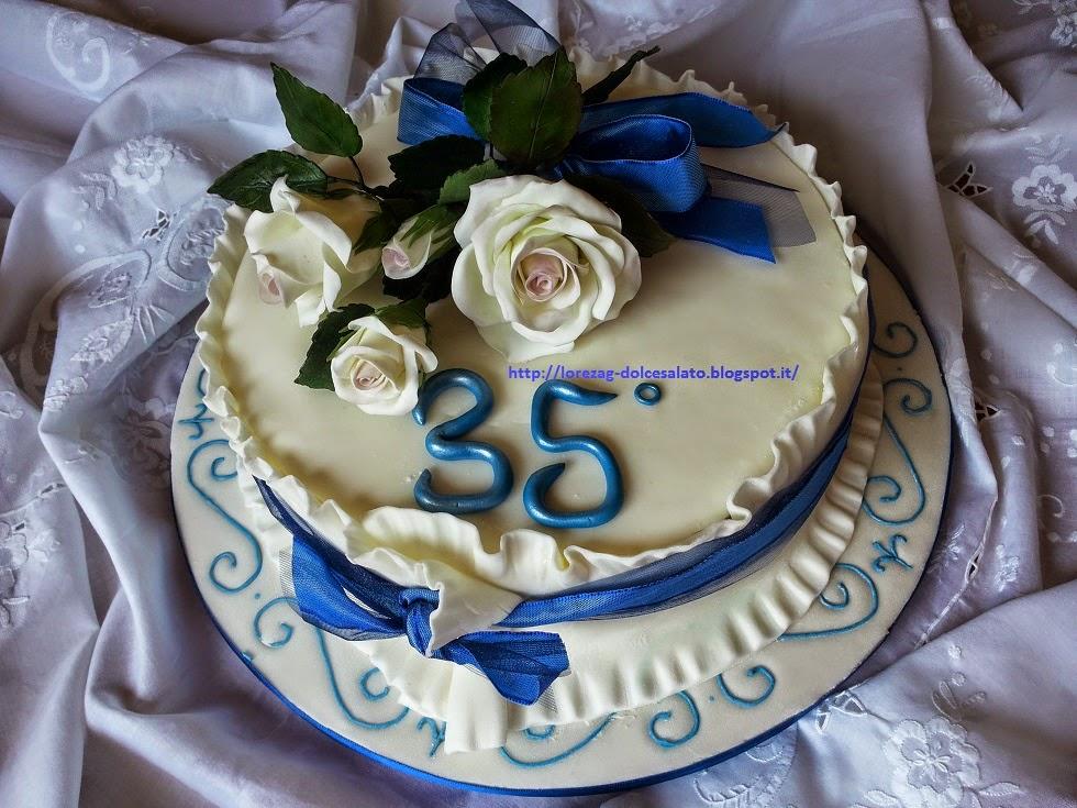 Anniversario 35 Matrimonio.Le Torte Di Lorena E Non Solo Torta 35 Anniversario