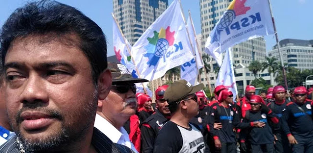 Ribuan Buruh Sudah Di Bandung, Target 10 Agustus Tiba Di Jakarta