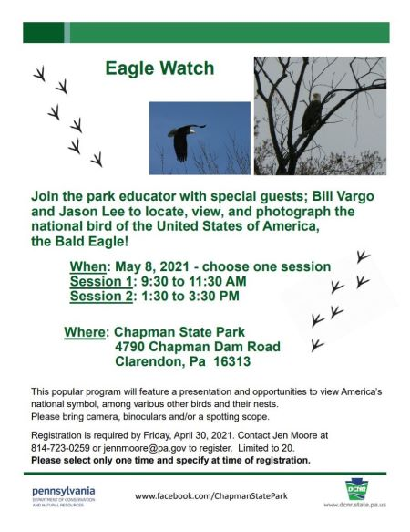 5-8 Chapman State Park Eagle Watch