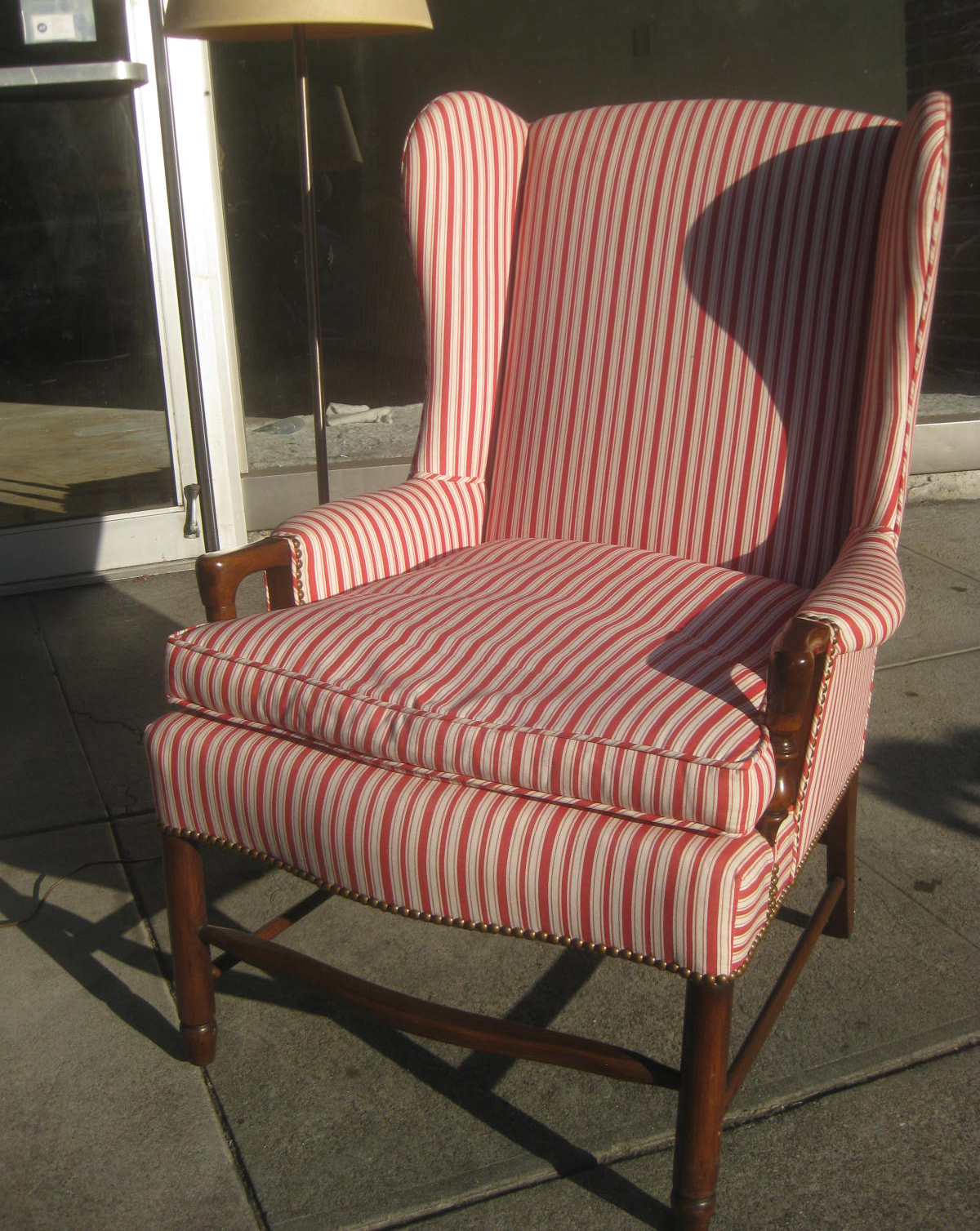 traditional wingback chair chiavari chairs for sale miami uhuru furniture and collectibles sold