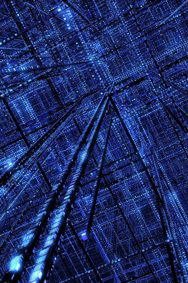 3D Cyberspace Grid  Galaxy Note HD Wallpaper