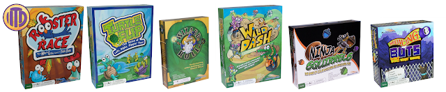 Board Games designed and illustrated by Imagine That! Design for Roosterfin Games