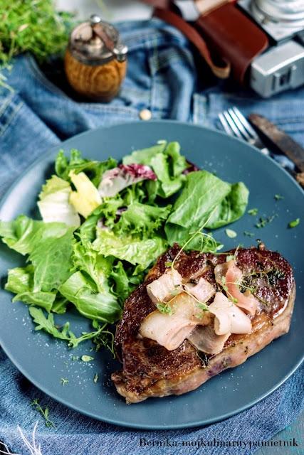 steak, stek, wolowina, mieso, bernika, kulinarny pamietnik