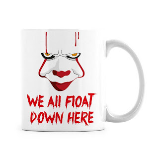 It Movie, Pennywise, We All Float, Coffee Mug, It Film Gifts and Merchandise, Stephen King Store