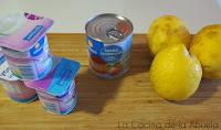 Mouse de limón con yogurt