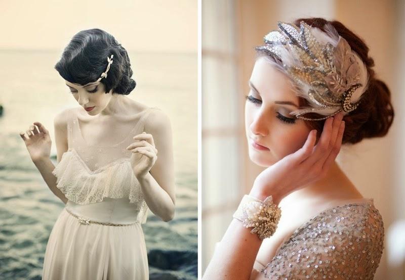 Inspiracje ślubne ślubne Trendy 2014 Retro Fryzura I