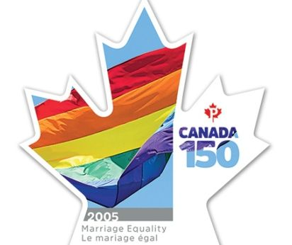 Canada 150 Commemorative Equal Marriage Stamp