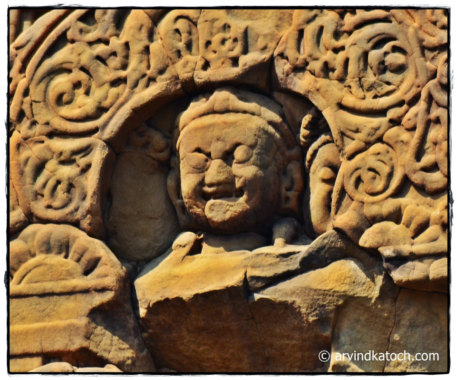 India, Laughing, Buddha, Masroor Rock, Temple