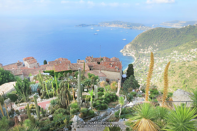 Eze Village France Nietzsche Path trail steps hotel accomodation french riviera nice Chateau-de-la-Chevre-d'O  jardin botanique