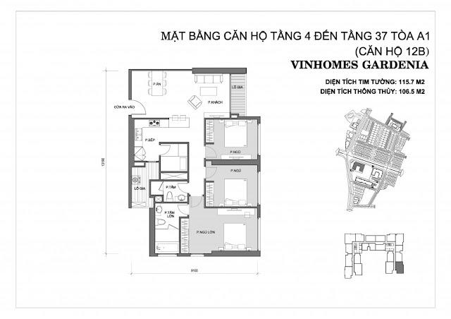 12B - Tòa A1 Vinhomes Gardenia