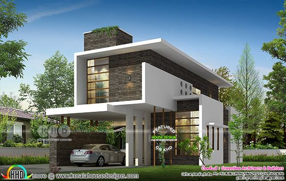 2210 sq-ft 3 bedroom new generation house plan