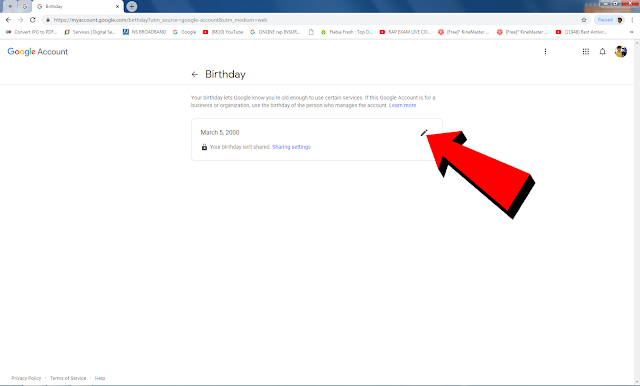 Email id Me Date Of Birth Kaise Change Kare in Hindi