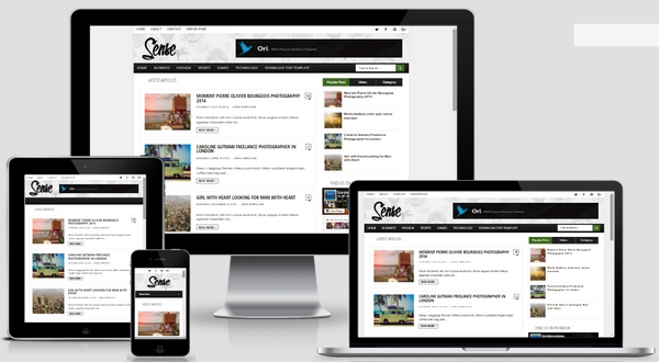 Free Download Sense Responsive Blogger Template