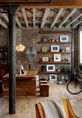 terrific exposed brick bedroom wall ideas   Exposed Brick And Plaster Walls For The Interior Design Of ...