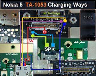 حل عطل شحن نوكيا Nokia 5 TA-1053 CHARGING WAYS