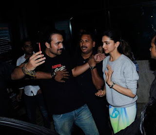 Priyanka Chopra and Deepika Padukone at  'Dil Dhadakne Do' Screening at Hard Rock Cafe