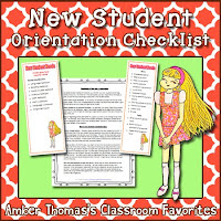 https://www.teacherspayteachers.com/Product/New-Student-Orientation-Preparation-System-with-Printouts-175936