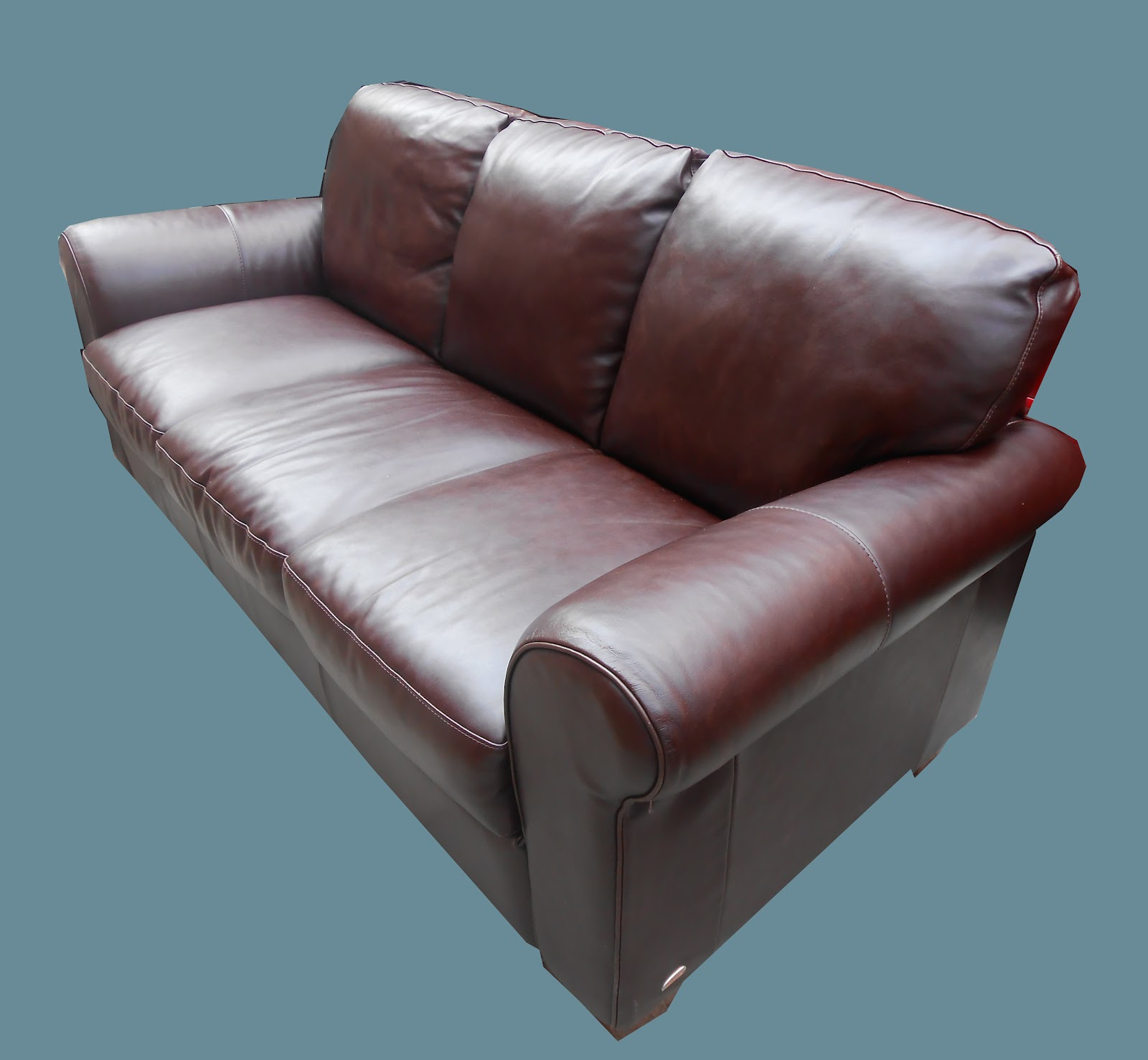 Italsofa Leather Sofa: Uhuru Furniture & Collectibles: Italsofa Leather Sofa- SOLD