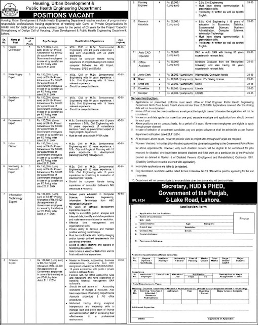 Career opportunity in Public Health Engineering Department Jobs 2016