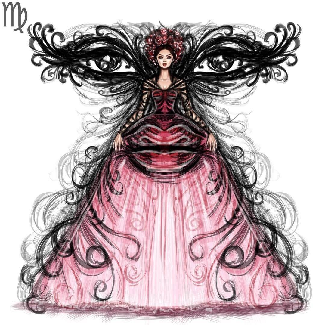06-Virgo-Shamekh-Bluwi-Zodiac-Haute-Couture-Exquisite-Fashion-Drawings-www-designstack-co