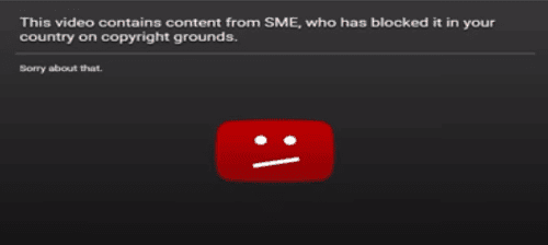 video not available message