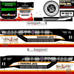 Livery Bussid Harapan Jaya SDD SR2