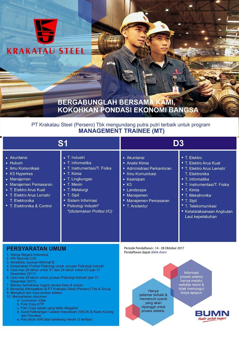 Lowongan BUMN PT Krakatau Steel (Persero) Tbk