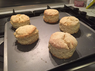 Lemon and coconut scones