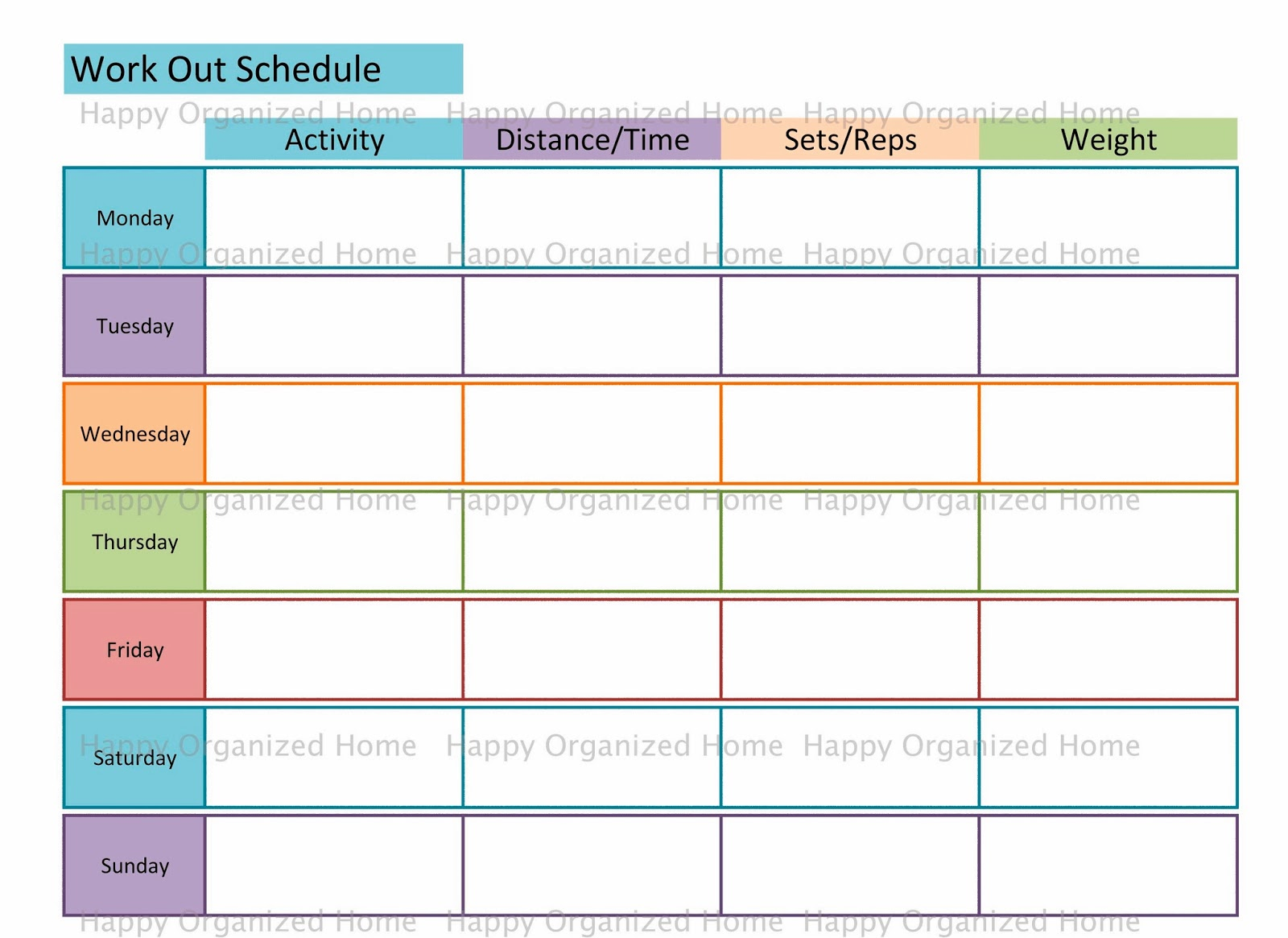 Happy Organized Home Getting Healthy In