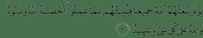 Surat Al-Mujadilah Ayat 6