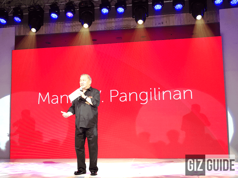 Mr. Manny V. Pangilinan (MVP) with the announcement