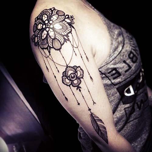 dantel dövmeleri lace tattoos 5