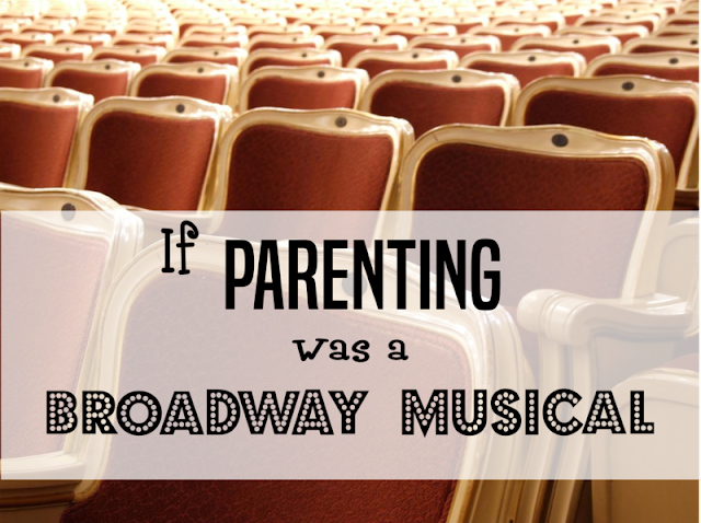 If Parenting Was a Broadway Musical -- What would parenthood be like as a Broadway show? Read audience reviews and find out. (Please note that tickets must be purchase 9 months in advance, and even then exact showtimes are TBD and completely at the discretion of the producer.)  {posted @ Unremarkable Files}