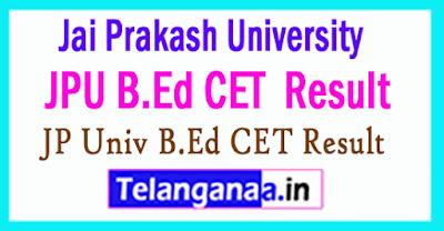 Jai Prakash University B.Ed CET Result