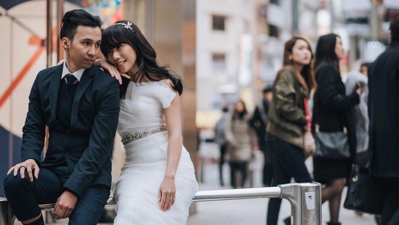 Foto prewedding Cherly Juno dan Arthur Panjaitan di Tokyo