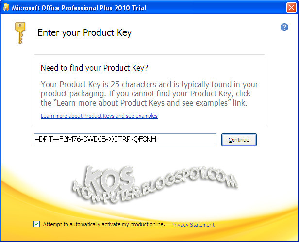office 2010 professional serial