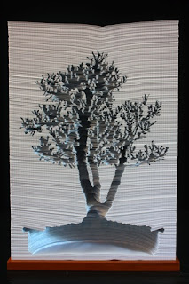 altered book carving