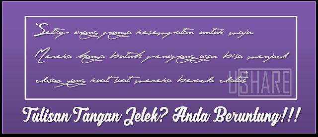 Jangan Malu Kalau Tulisan Tanganmu Jelek, Kamu Termasuk Orang Beruntung