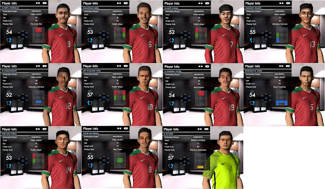 PES 2017 Indonesia U-19 Facepack