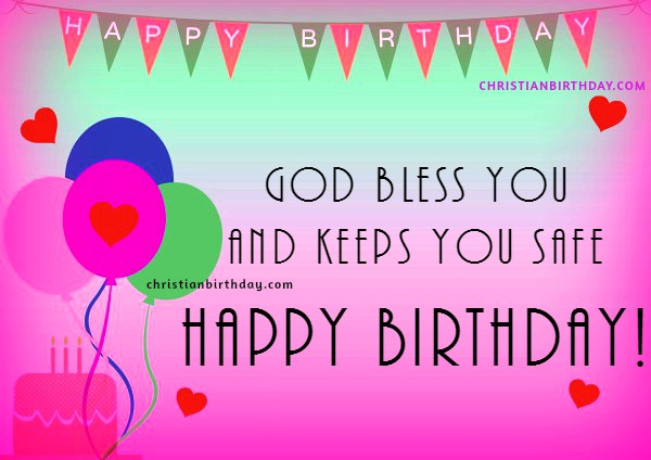 Christian Birthday Message – Birthday Card with Quotes