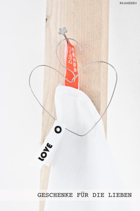 DIY - ein Drahtherz für den Valentinstag.