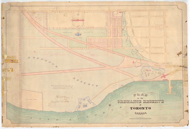 Map: Plan of the Ordnance Reserve at Toronto Canada, 1862, by J. Stoughton Dennis