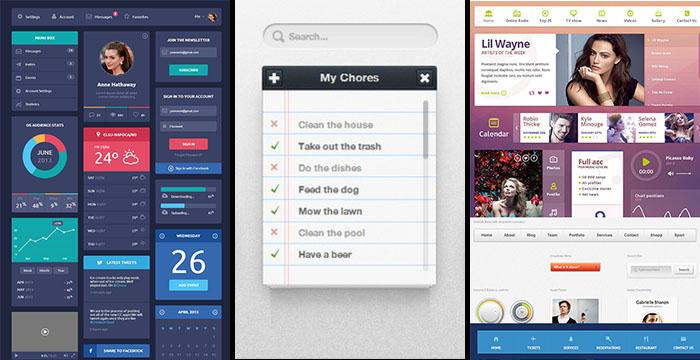 Latest Free HTML5 CSS3 UI kits