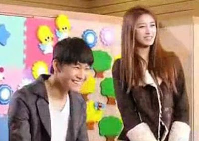 Check out the BTS of Jiyeon and JB's