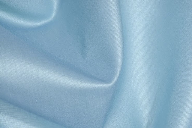 Light Turquoise Cotton Silk Fabric