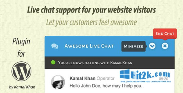 Awesome Live Chat 1.3.4 WordPress Plugin Extended License