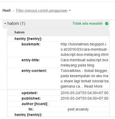 hasil structure tool